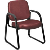 Guest Chair, 603, Anti-Microbial Vinyl, Wine