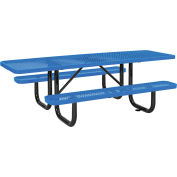 "8' ADA Picnic Table, Surface Mount, Blue (96"" Long)"