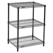 "Black Wire Shelf Printer Stand, 3-Shelf, 24""W x 18""D x 34""H"
