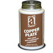 COPPER PLATE™ Anti-Seize W/O Graphite, Aluminum 1800°F, 8oz. Brush Top 12/Case - Pkg Qty 12