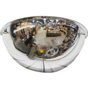 "Half Dome Mirror, 18"" Diameter - Pkg Qty 2"