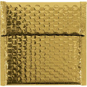 "7""x6-3/4"" Gold Glamour Bubble Mailer, 72 Pack"
