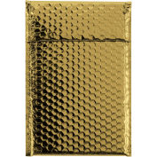 "7-1/2""x11"" Gold Glamour Bubble Mailer, 72 Pack"