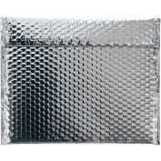 "13-3/4""x11"" Silver Glamour Bubble Mailer, 48 Pack"