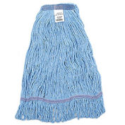 Large Looped Mop Head, Narrow Band, Blue