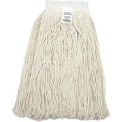 24 oz. Cotton Cut-End Mop Head, 4Ply, Wide Band, White