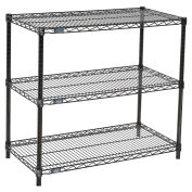 "Black Wire Shelf Printer Stand, 3-Shelf, 36""W x 18""D x 34""H"