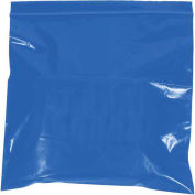"2 Mil Reclosable Bags, 4""x6"", Blue, 1000 Pack"