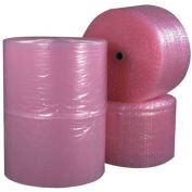 "Perforated Anti-Static Bubble Roll 12"" x 750' x 3/16"", Pink, 4/PACK, BW316S12ASP"