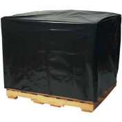"2 Mil Black Pallet Covers 54"" x 44"" x 76"" 50 Pack"