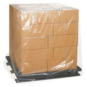 """3 Mil Clear Pallet Covers, 36""""x28""""x52"""", 50 Pack"""