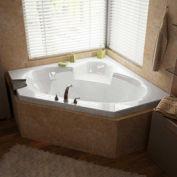 Atlantis Whirlpools 6060S Sublime Corner Soaking Bathtub, 60 x 60, Center Drain, White