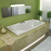 Atlantis Whirlpools 4272W Whisper Rectangular Soaking Bathtub, 42 x 72, Center Drain, White
