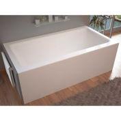 Atlantis Whirlpools 3060SHR Soho Rectangular Soaking Bathtub, 30 x 60, Right Drain, White