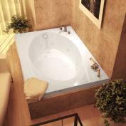 Atlantis Whirlpools 4384VWR Vogue Rectangular Whirlpool Bathtub, 43 x 84, Right Drain , White