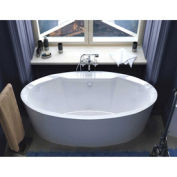 Atlantis Whirlpools 3468SS Suisse Oval Soaking Bathtub, 34 x 68, Center Drain, White