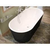 Atlantis Whirlpools 3263VY Valley Oval Soaking Bathtub 32 x 63 CTR Drain WH Inside Black Outside