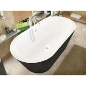 Atlantis Whirlpools 3265VY Valley Oval Soaking Bathtub 32 x 65 CTR Drain WH Inside Black Outside