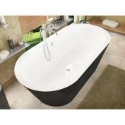 Atlantis Whirlpools 3270VY Valley Oval Soaking Bathtub 32 x 70 CTR Drain WH Inside Black Outside