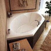 Atlantis Whirlpools 6060V Venus Corner Soaking Bathtub, 60 x 60, Center Drain, White