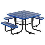 """46"""" ADA Square Picnic Table, Surface Mount, Blue"""