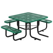 "46"" ADA Square Picnic Table, Surface Mount, Green"