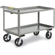 "LITTLE GIANT Cushion Load Trucks with Crossbrace Handle - 9"" Pneumatic Wheels - 36""Wx24""D Shelf"