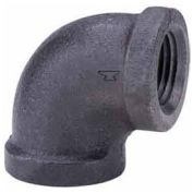 "3/4"" Black Malleable 90 Degree Elbow, Lead Free, 150 PSI"
