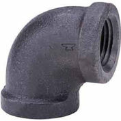 """1"""" 90 Degree Elbow, Black Malleable, 150 PSI, Lead Free"""