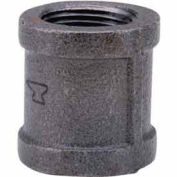 "1-1/4"" Black Malleable Coupling, Lead Free, 150 PSI"