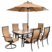 Monaco 7-Piece Outdoor Dining Set with Umbrella