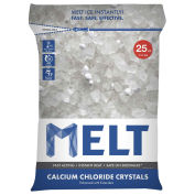 Snow Joe MELT25CC-PLT MELT 25 Lb. Bag Calcium Chloride Crystals Ice Melter - 100 Bags/Pallet