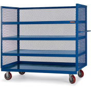 "RELIUS SOLUTIONS 3-Sided All-Welded Trucks - 60""Wx30""D Shelf - 4 Shelves - Gray"