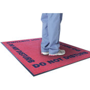 "NoTrax Do Not Disturb Logo Floor Mat, 3' x 5' x 3/8"", Red"