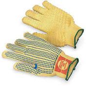 Kevlar Grip Gloves, Kriss-Cross Coating, Yellow