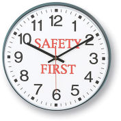 "INFINITY/ITC Message Clock - 12"" Diameter - Safety First"