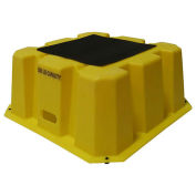 """1 Step Nestable Plastic Step Stand - Yellow 25""""W x 25""""D x 10-1/2""""H"""