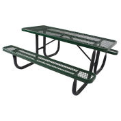 6' Steel Picnic Table, Green