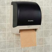 "Plastic Automatic Roll Paper Towel Dispenser, 8"" Roll, Smoke Gray/Beige"