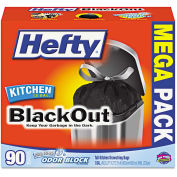 Hefty Strong Tall Kitchen Drawstring Trash Bags, White, 13 Gal, 0.9 Mil, 90/Box