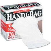 Handi-Bag Super Value Pack Trash Bag 13 Gallon 0.60 Mil, White 100 Bags/Box