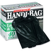 Handi-Bag Super Value Pack Trash Bag 33 Gallon 0.70 Mil, Black 40 Bags/Box