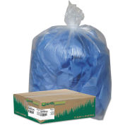 Earthsense Commercial Recycled Can Liners 31-33 Gallon 1.25 Mil, Clear 100 Bag/Box