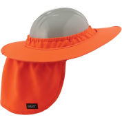 Chill-Its 6660 Hard Hat Brim with Shade, Orange, One Size