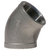"1-1/4"" 304 Stainless Steel 45 Degree Elbow, FNPT, Class 150, 300 PSI - Pkg Qty 10"