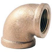"1-1/4"" Lead Free Brass 90 Degree Elbow, FNPT, 125 PSI"