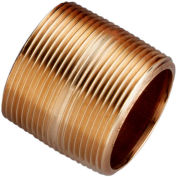 "Merit Brass 1-1/4"" X 1-5/8"" Lead Free Seamless Red Brass Pipe Nipple"