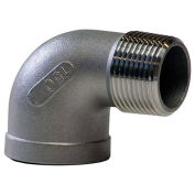 "KINGDOM 3/4"" 304 Stainless Steel 90 Degree Street Elbow, MNPT X FNPT"