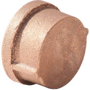 "1-1/4"" Lead Free Brass Cap, FNPT, 125 PSI, Import"