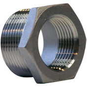 "1"" x 1/2"" Bushing, 304 Stainless Steel, MNPT X FNPT, Class 150, 300 PSI"